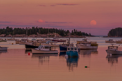 Full Moon over Stonington Harbor, ME