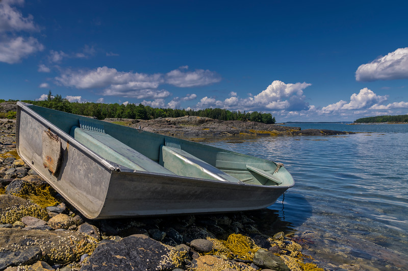 Rowboat at Northwest Harbor, Deer Isle, ME