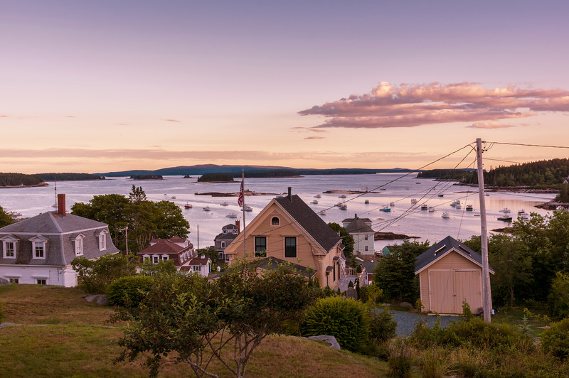 Pre-Sunset view over Stonington Harbor, ME