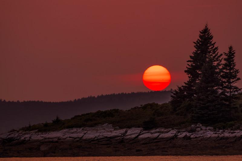 Pumpkin Island Sunset, Deer Isle, Maine