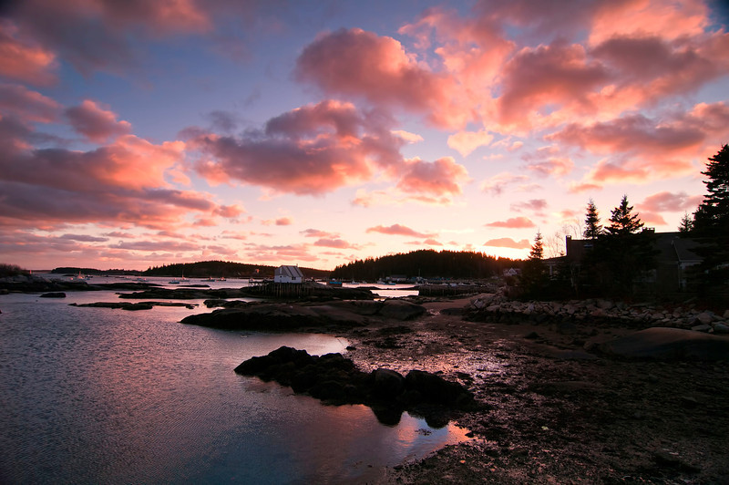 Deer Isle Dock Sunset, Maine