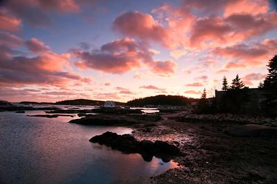 Deer Isle Dock Sunset, Maine