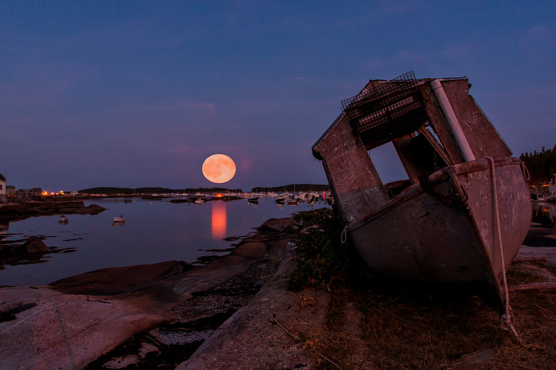 Full Moon over Noah's Ark, Stonington, ME