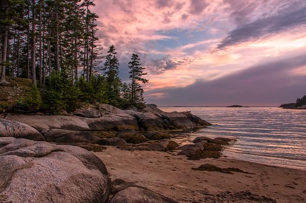 Sand Beach Sunset, Deer Isle, ME