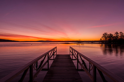 Parker Point Road Dock at Dawn, Blue Hill, Maine