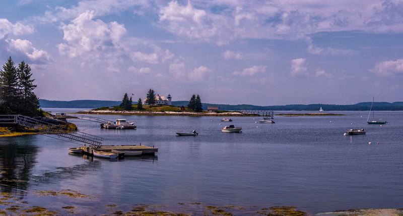Pumpkin Island Light Panorama, Deer Isle, Maine