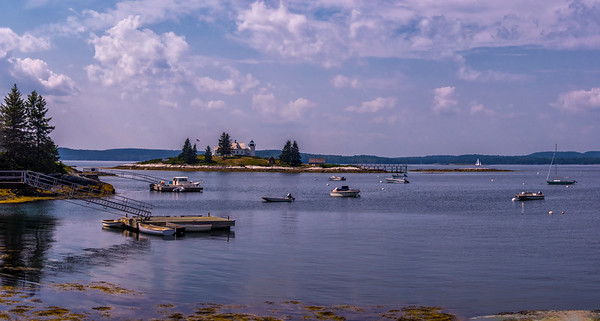 Pumpkin Island Light Panorama, Deer Isle, Maine