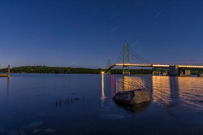 Deer Isle Bridge Star Trails, August 2015, Deer Isle, Maine