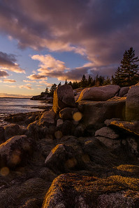 November Sand Beach Sunset, Stonington, Maine 2