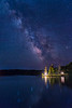 Deer Isle Mill Pond Milky Way Water and Reflection, Maine