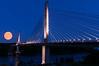 July 2014 Supermoon over Penobscot Narrows Bridge