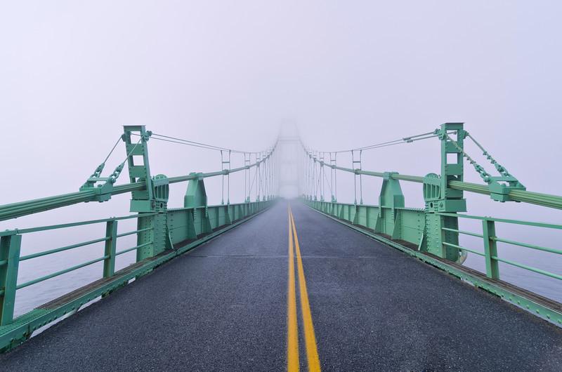 Deer Isle Bridge in Fog, Maine