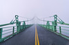 Deer Isle Bridge in Fog, Maine