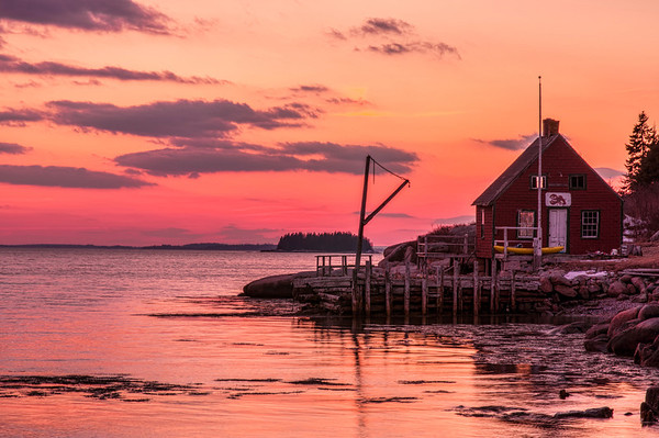 Deer Isle Lobster Shack at Sunset
