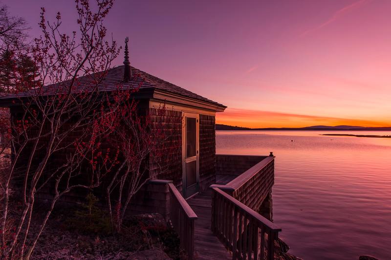 Parker Point Cottage at Dawn, Blue Hill, Maine