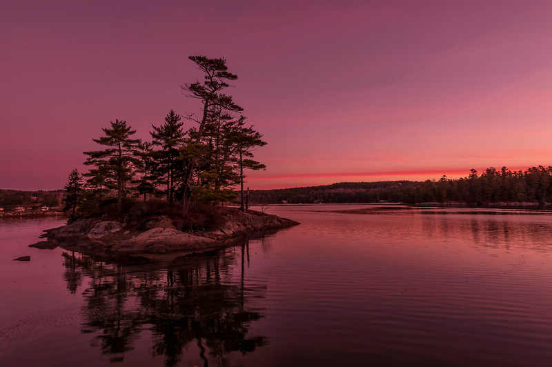 Parker Point Island , Blue Hill, Maine at Dawn