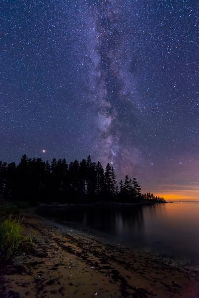 Milky Way over Sand Beach, Deer Isle, Maine