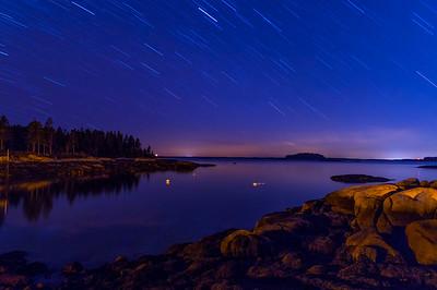 Sand Beach Cove Star Trails, Deer Isle, Maine