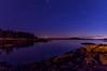 Stars over Sand Beach Cove Road, Deer Isle, ME
