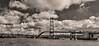 Deer Isle Bridge Cloudorama Monochrome
