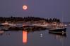 Red Moon over Stonington Harbor, ME