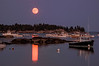 Red Moon over Stonington Harbor, ME
