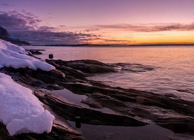 Falmouth Town Landing Winter Panorama, Falmouth, Maine