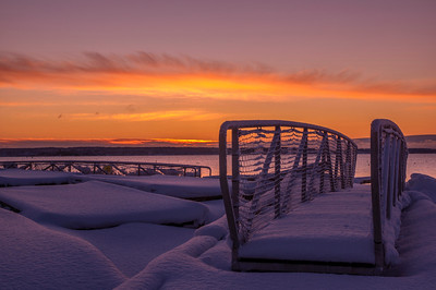 Snowed In, Falmouth Town Landing, Maine