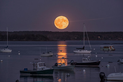 Harvest Moon, Falmouth Town Landing, Maine