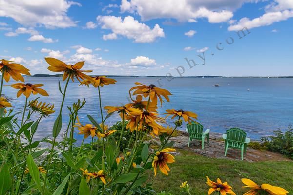 Seaside Garden and Adirondacks, Falmouth, Maine