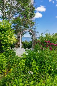 The Ocean Beyond the Garden Wall, Falmouth, Maine