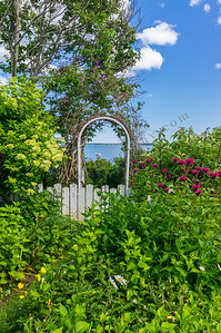 The Ocean Beyond the Garden Wall, Falmouth, Maine