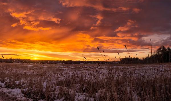 Marsh Grass Sunset 1, Scarborough, Maine