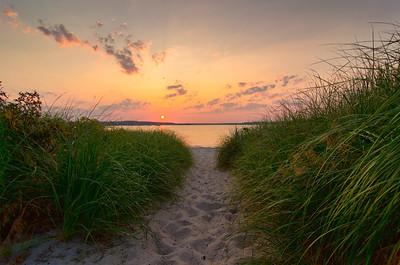 Dunegrass Sunset, Ferry Beach, Scarborough, Maine