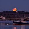 Partially Eclipsed Moonset, Ferry Beach, Scarborough, Maine 3