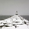 Spring Point Ledge Light in Snow 20x30