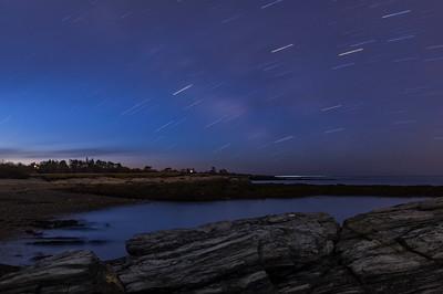 Kettle Cove Star Trails, Cape Elizabeth, Maine
