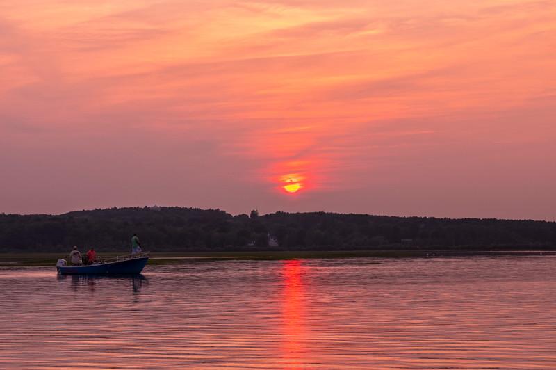 Pine Point Sunset Fishing, Scarborough, Maine