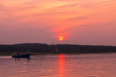 Pine Point Sunset Fishing, Scarborough, Maine