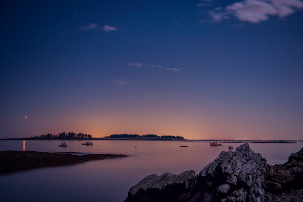 Spring Night at Kettle Cove, Cape Elizabeth, Maine