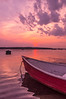 Red Boat at Sunset, Pine Point, Scarborough, Maine