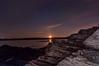 Kettle Cove Moonset, Cape Elizabeth, Maine
