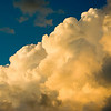 Cloud World--Cumulus Congestus cloud formation near sunset on a sultry August evening.