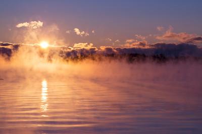 Sea Mist in Falmouth, Maine on a -7 degree dawn.