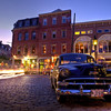 Magical Twilight in the Old Port, Portland, Maine.