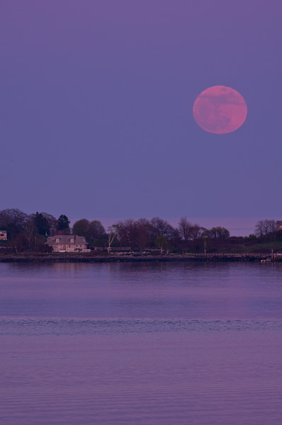 Super Moon or Perigee Moon on June 23, 2013, looking across from Portland's East End across the water.