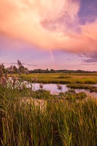 Scarborough Marsh Rainbow, Scarborough, Maine