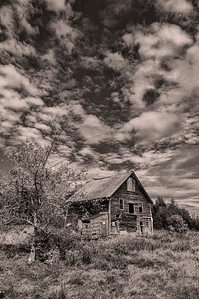 Abandoned Barn, Unity Maine Monochrome