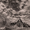 Abandoned Barn, Unity Maine Monochrome