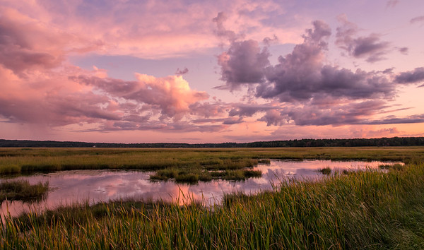 September Sunset, Scarborough Marsh, Maine